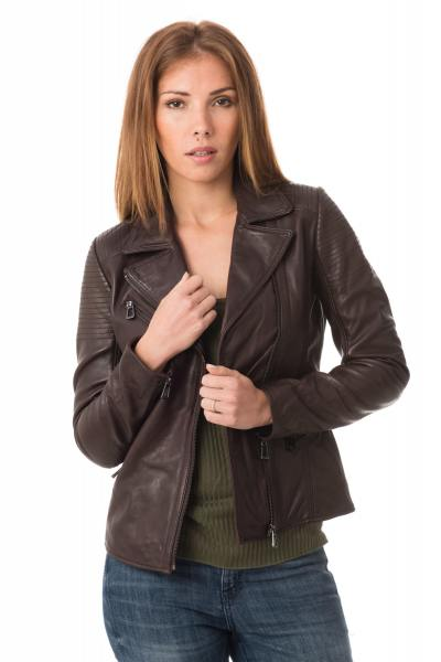 Blouson Femme rose garden MISSOURI LAMB RUBY BROWN
