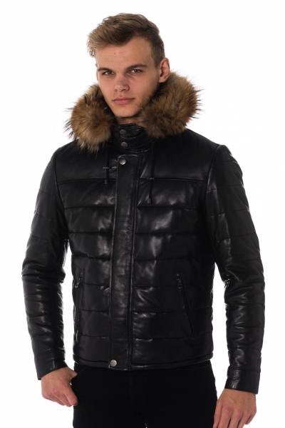 Blouson Homme Daytona BRAD HOOD SHEEP THIN BLACK ZZ