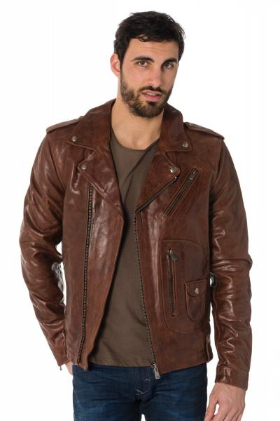 Blouson Homme Daytona REDFORD COW PULL UP BRANDY