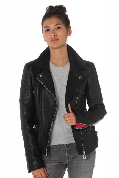 Blouson Femme rose garden JERRY COW AIR MILLED BLACK