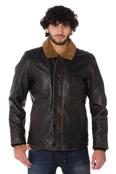 Blouson Homme Daytona FARMAN BUFF BUCCO BLACK