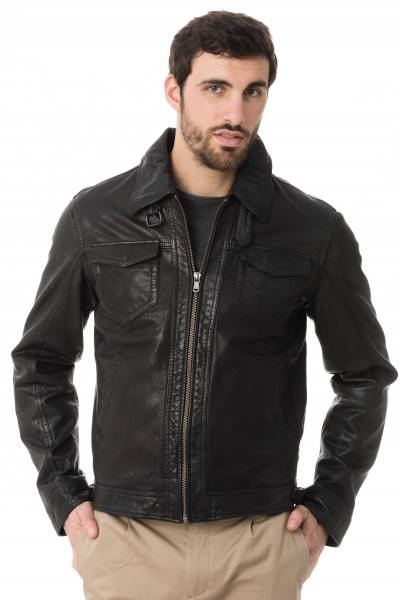 Blouson Homme Daytona SHELBY SHEEP TIGER BLACK