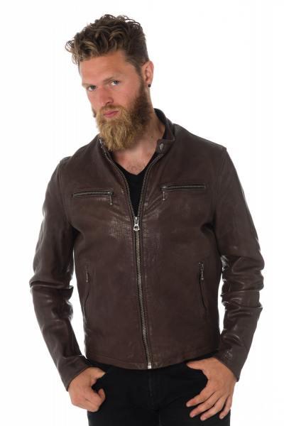 Blouson cuir de vachette homme Daytona en marron              title=