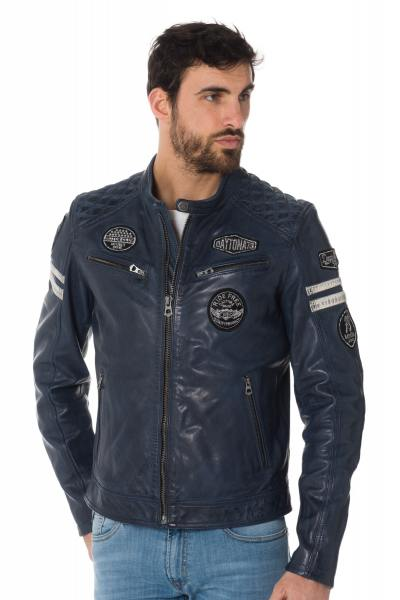 Blouson Homme Daytona WALKER SHEEP ATLAS SHORT BLUE
