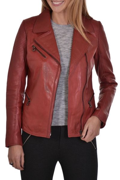 Blouson Femme rose garden MISSOURI LAMB RUBY DARK RED ZZ