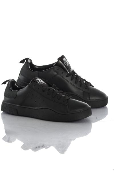 Baskets en cuir Homme Diesel S-CLEVER LOW BLACK/BLACK