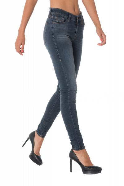 Blaue Damen Skinny Jeans SLANDY 00SXJN 069BT              title=