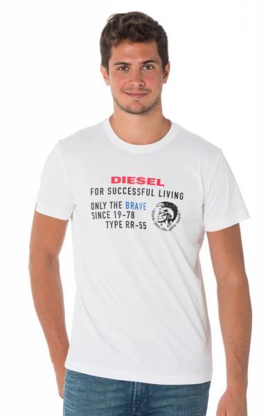 Tee-shirt homme blanc Diesel              title=