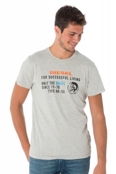 Graues Diesel Herren T-Shirt T-DIEGO XB 912