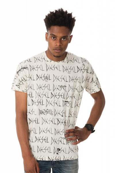 kurzärmeliges T-Shirt mit DIESEL-Aufschrift