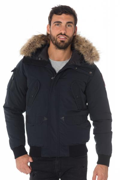 Blouson Homme Helvetica ANCHORAGE MEN RACCOON NAVY