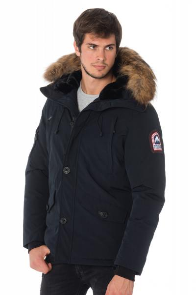 Veste Homme Helvetica ONTARIO MEN RACCOON EDITION NAVY