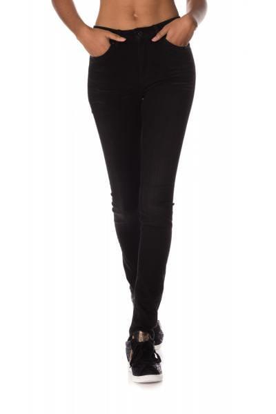 Jean noir femme coupe skinny              title=