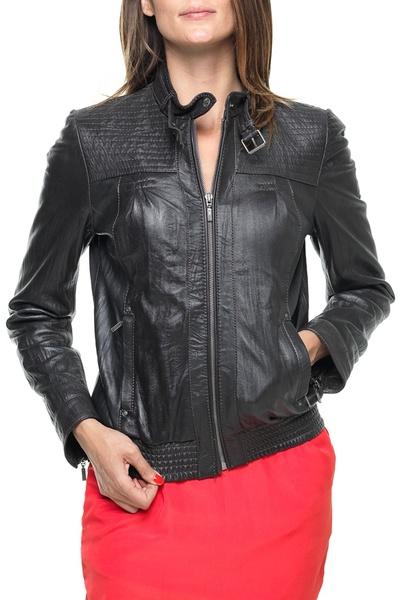Blouson femme KAPORAL en cuir marron              title=