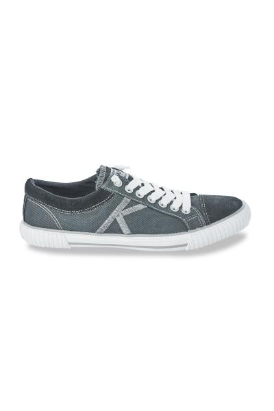 Baskets homme Kaporal en velours bleu              title=