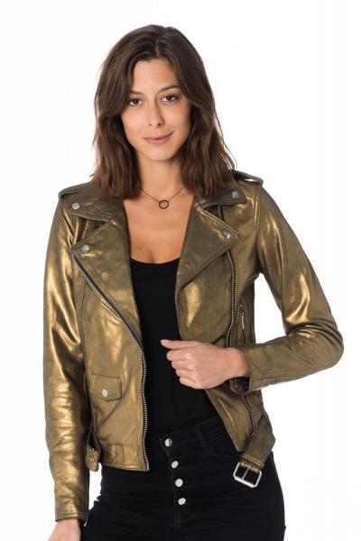 Blouson Femme LADC DIANE ANTIK METALLIC ANTIK GOLD