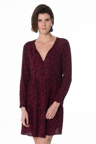 rotes Damen Kleid mit Leopardenmuster              title=