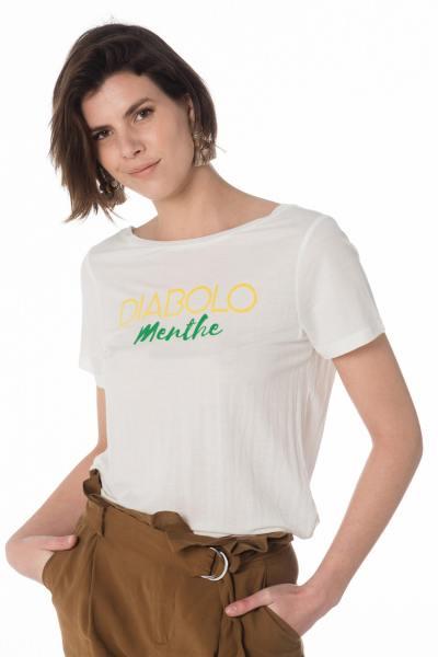 naturweißes Damen T-Shirt mit Aufdruck DIABOLO Menthe              title=