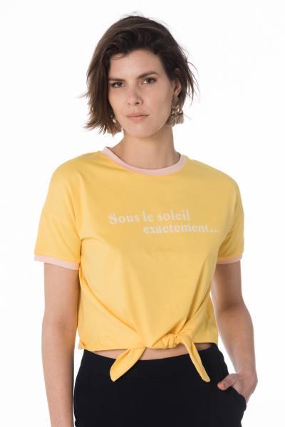 """gelbes Damen T-Shirt """"Sous le soleil exactement...""""              title="""