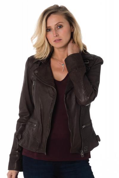 Damen Jacke in braunen Schafsleder              title=