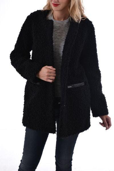Manteau femme Oakwood en acrylique noir              title=