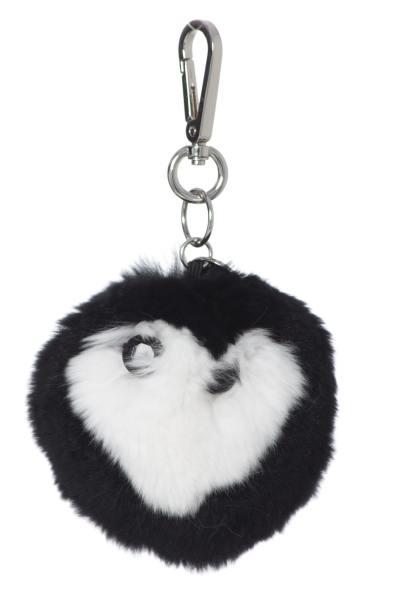 Porte clefs bicolore noir et blanc              title=