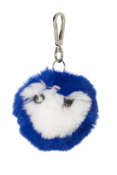 Porte clefs bicolore bleu et blanc              title=