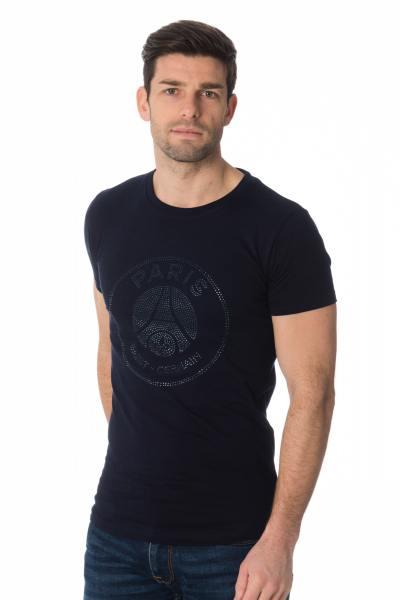 Tee-shirt PSG bleu avec strass              title=