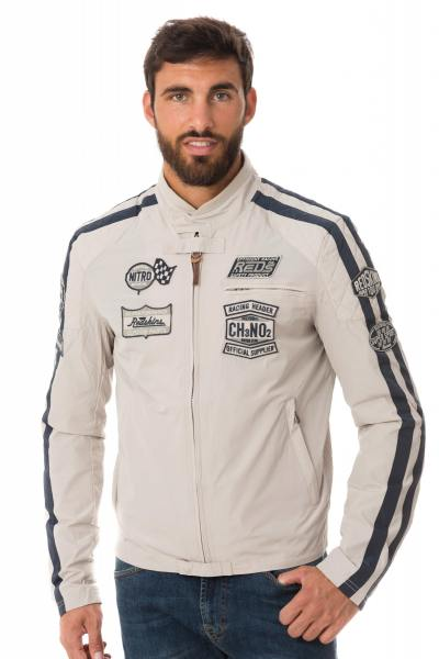 Biker-Jacke aus Polyester