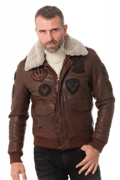 Blouson Homme Redskins PERRY LIVERPOOL COL F COGNAC