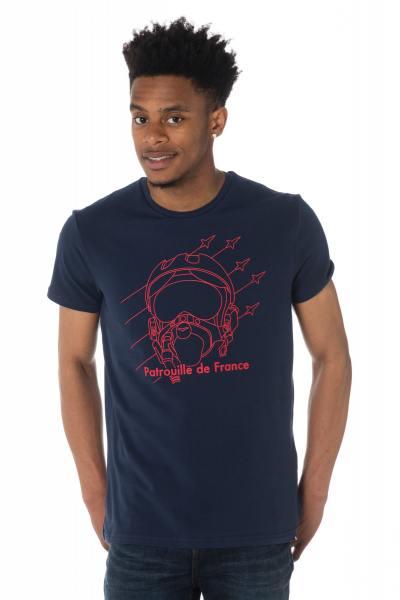 Tee-shirt homme Patrouille de France bleu marine              title=