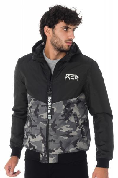 Redskins Blouson aus Polyester in schwarz und Camouflage