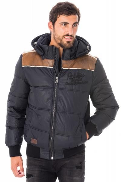 schwarze, warme Redskins Herrenjacke