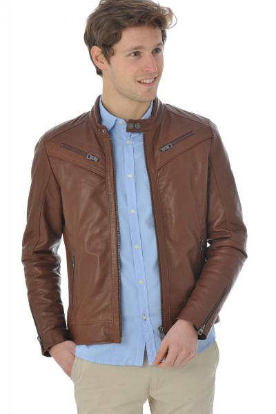 Blouson Homme Redskins FIRST STARKING COGNAC