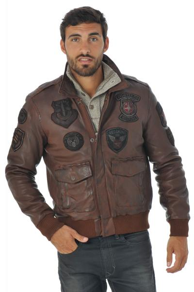 Blouson Homme Redskins PERRY LIVERPOOL COGNAC H16