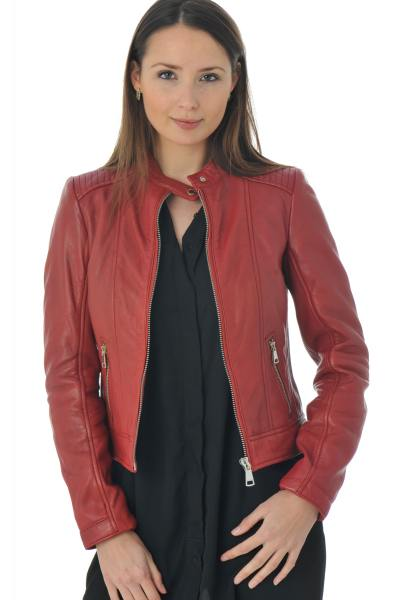 Blouson Femme Redskins THEORY COBRA HOT RED P16
