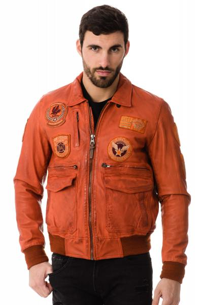 Blouson Homme Redskins HAWK LIVERPOOL ORANGE P17