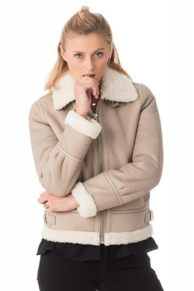 Blouson Femme Schott LCW1257 LT BEIGE