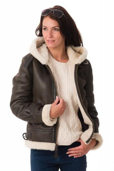 Blouson femme SCHOTT en cuir marron              title=