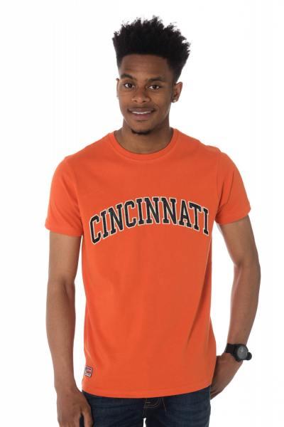 Tee-shirt orange Schott logo Cincinnati