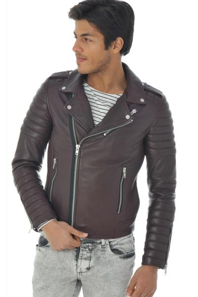Perfecto bordeaux coupe fit serge pariente              title=