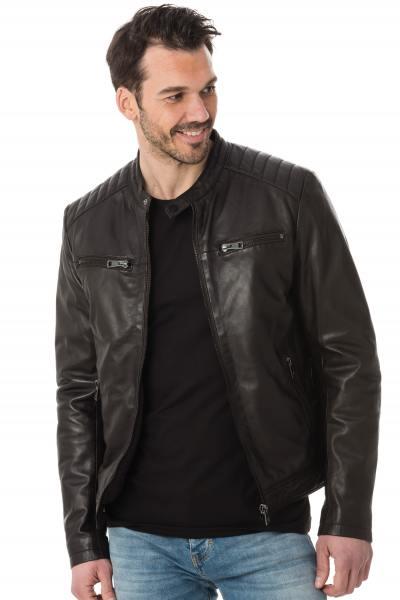 Serge Pariente Jacke aus schoko-braunem Leder