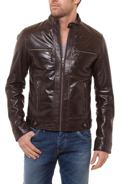 Blouson cuir Homme Marron Serge Pariente              title=