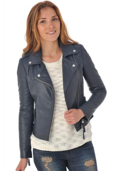 Blouson Femme Serge Pariente CITY GIRL NAVY GRAINE