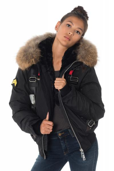 Blouson Femme The New Designers LANDING BLACK