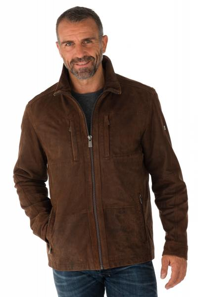 Blouson Homme Trapper JAVIER RED BROWN