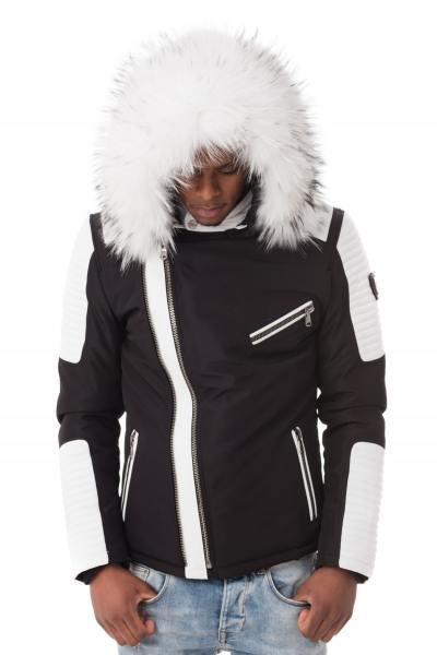 Blouson Homme Ventiuno EKOS 2 BLACK WHITE COL WHITE (EDITION LIMITEE)