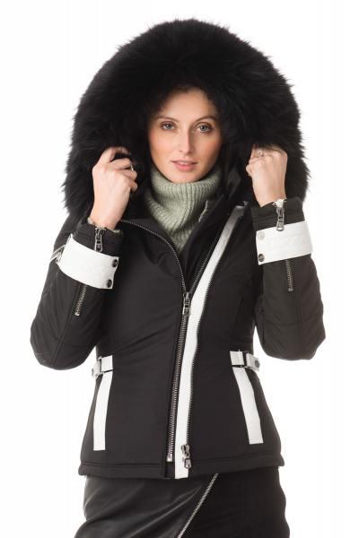 Blouson Femme Ventiuno SOFIA BLACK WHITE COL NOIR