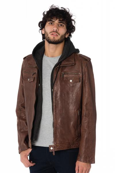 Blouson Homme deercraft FIVE NSLV LIGHT BROWN