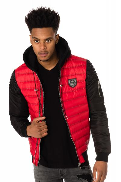 Blouson Homme horspist POWELL RED BLACK P18